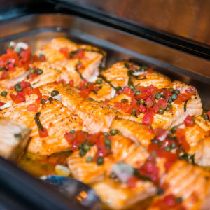 salmon with tomatoes and capers