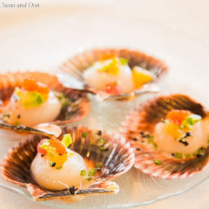 scallops on half shells